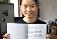 Du học sinh Việt gây sốt vì viết tiếng Trung quá đẹp