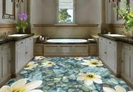 16 kiểu sàn nhà tắm 3D sống động như thật