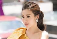 Đỗ Mỹ Linh khoe vai trần khi đi chấm Hoa hậu Việt Nam 2018