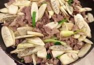 Củ niễng xào thịt bò, món ngon lạ miệng cho mâm cơm chiều