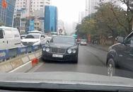Truy tìm xe Bentley chạy ngược chiều, nháy đèn đòi nhường đường trên phố Hà Nội