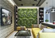 Căn hộ đẹp nổi bật với bức tường bằng cây xanh
