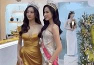 2 nàng hậu chân dài nhất nhì Vbiz Đỗ Thị Hà - Lương Thùy Linh chung khung hình, tân Hoa hậu lộ body gầy gò sau 2 tuần