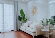 Căn hộ 90m² như được nhân đôi không gian nhờ cách decor khéo léo với sắc trắng ở Hà Nội