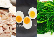 Mách bạn cách luộc rau muống, thịt, trứng ngon nhất