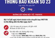 Khẩn cấp tìm người trên chuyến bay VN7198 từ Đà Nẵng về Hà Nội vì có nhiều khách mắc COVID-19
