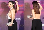Nữ diễn viên khoe gần trọn ngực bơm trên thảm đỏ khiến nhiều người đỏ mặt