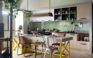 Căn hộ khéo kết hợp phòng khách, nhà ăn và bếp