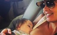 Con gái tỷ phú khoe ảnh cho con bú trên máy bay riêng gây tranh cãi