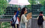 Cô giáo sợ nắng, bắt học sinh che ô như vệ sĩ