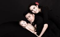 Hoa hậu Diễm Hương rạng rỡ bên con trai và chồng