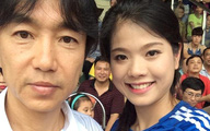 Người đẹp top 10 hoa hậu Việt Nam 'phải lòng' HLV Miura