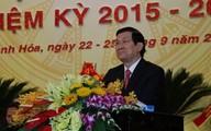Chủ tịch nước Trương Tấn Sang dự Đại hội Đảng bộ Thanh Hóa