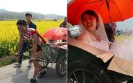 Chú rể 9X cởi trần kéo xe bò đi đón cô dâu gây xôn xao