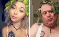 Ông bố Mỹ gây sốt vì bắt chước ảnh selfie của con gái