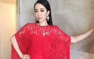 """""""Chim công"""" Linh Nga nổi bật tại sự kiện với váy ren đỏ rực"""