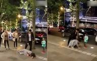 Chồng đánh vợ dã man ngay giữa phố gây bức xúc