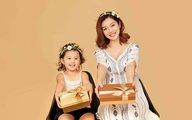 Con gái Jennifer Phạm ngộ nghĩnh, đáng yêu chụp ảnh kỷ niệm trước khi mẹ nghỉ sinh