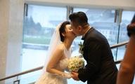 Á hậu Trà My rạng ngời bên chồng 7X trong tiệc cưới ở Hà Nội