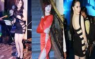 """Mỹ nhân Việt tự tin diện váy khoét lên tận cổ """"không nội y"""""""