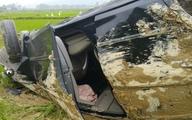 Ô tô đâm xe máy bay xuống ruộng, 2 người thương vong