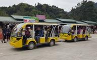 Xe điện Trung Quốc không đăng ký ngang nhiên chở khách ở Yên Tử
