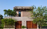 Nhà tường gạch mái lá đẹp lạ giữa Sài Gòn