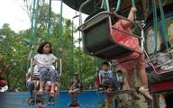 Người chen chúc, tắc nghẽn trong công viên Thủ Lệ ngày nghỉ lễ Giỗ tổ Hùng Vương