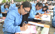 Hải Phòng: Gần 500 học sinh giỏi dự khai bút đầu Xuân