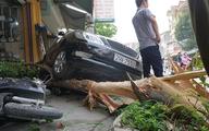 Ôtô lùi trúng 8 phương tiện, một người bị thương