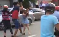 Nam thanh niên hành hung cô gái sau va chạm giao thông