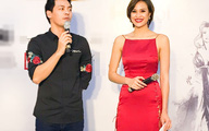 Siêu mẫu Phương Mai nóng bỏng diện đầm xẻ cao đến hông bên MC Phan Anh