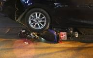 Hà Nội: Xế hộp mất lái, tông hàng loạt xe máy