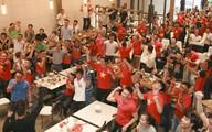 Quán bia, nhà hàng 'cháy' chỗ ngồi xem chung kết U23