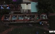 Sau cơn gió giật, nguyên dãy nhà trọ không còn mái
