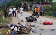 Va chạm kinh hoàng giữa 2 xe máy ở Lạng Sơn, 1 người tử vong, 4 người bị thương