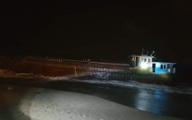 Phát hiện tàu hàng trôi vào bờ biển Hà Tĩnh