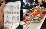 Khách 'tố' ăn sushi 7 triệu, tiền trà 1 triệu, nhà hàng phản ứng bất ngờ