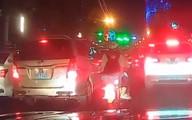 2 nữ sinh đi xe máy vào làn ô tô, được nhắc nhở nhưng bất ngờ phản hồi lại bằng ngôn từ khiếm nhã