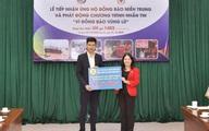 Đại diện tập đoàn MED GROUP trao 1,5 tỷ đồng tới Hội Chữ thập đỏ Việt Nam