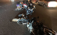 Ôtô tông hàng loạt xe máy ở TP.HCM