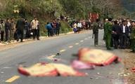 Xe khách đấu đầu xe máy, 3 người trong gia đình tử vong