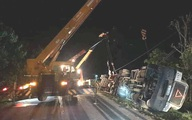 Thông tin mới nhất về vụ xe container lật đè xe khách làm 3 người tử vong ở Quảng Ninh