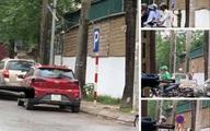 Hà Nội: Hy hữu 'kẻ giấu mặt' nhổ biển cấm đỗ ô tô trên đường, tráo biển 'cho đỗ '