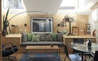 Căn hộ 50m² đẹp ấn tượng nhờ dùng chất liệu gỗ nới rộng không gian