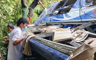 Hiện trường vụ xe khách rơi xuống vực làm 5 người tử vong