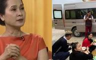 Câu chuyện đằng sau hình ảnh cả gia đình NSND Lan Hương trải báo ăn cơm ngoài đường