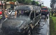 Xe chở quan tài bốc cháy giữa phố Đà Nẵng