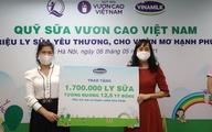 1,7 triệu hộp sữa sẽ được Vinamilk sẽ gửi đến trẻ em khó khăn qua quỹ sữa vươn cao Việt Nam