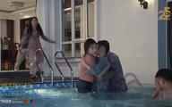 Hương vị tình thân tập 19: Nam lao xuống bể bơi cứu bà Dần nhưng lại gặp…Long